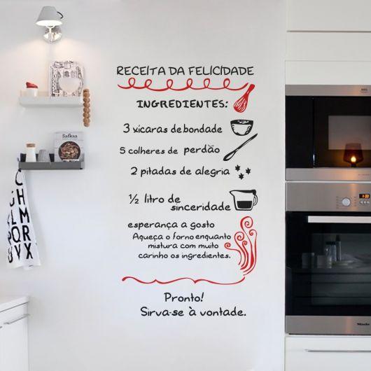 Artesanato Com Tecido E Cola ~ Adesivo para Cozinha Estilos, como decorar e + de 50 modelos criativos