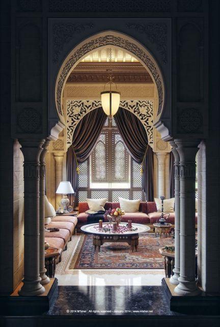 decoração sala com colunas