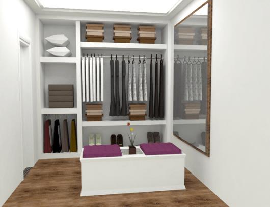 projeto closet simples