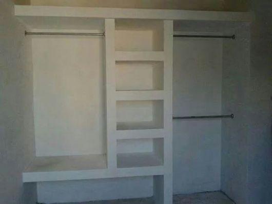 closet simples com cabideiro