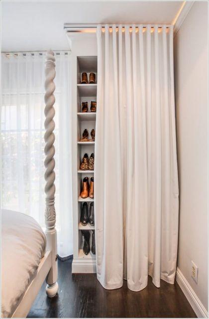 closet com cortina