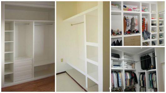 projetos closet pequeno
