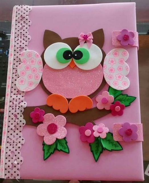 capa de caderno decorada