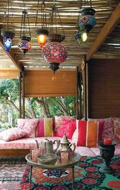 decoração varanda colorida