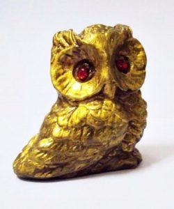 esculturas de gesso coruja