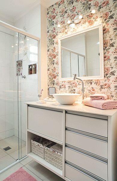 Espelhos para banheiro modelos, preços e fotos inspiradoras! -> Banheiro Pequeno Estilo Provencal