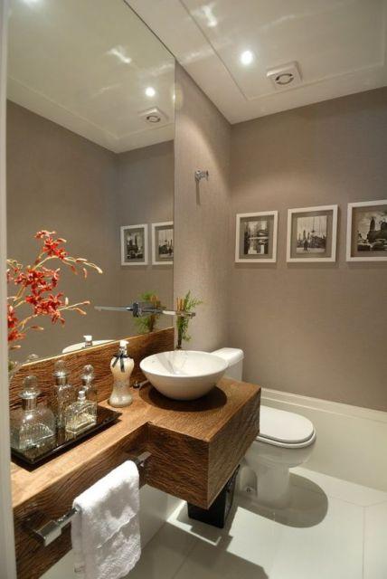 Espelhos para banheiro modelos, preços e fotos inspiradoras! -> Banheiro Pequeno Com Espelho Ate O Teto