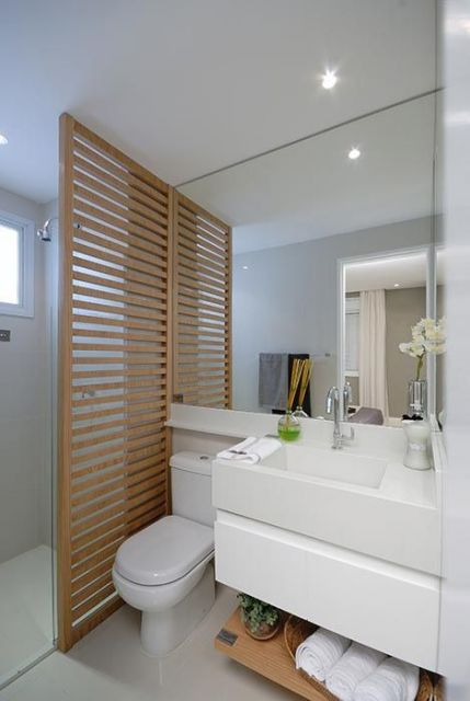 Espelhos para banheiro modelos, preços e fotos inspiradoras! -> Ampliar Banheiro Pequeno
