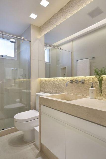 Espelhos para banheiro modelos, preços e fotos inspiradoras! -> Banheiro Simples Feminino