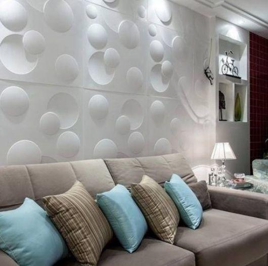 parede sala com textura