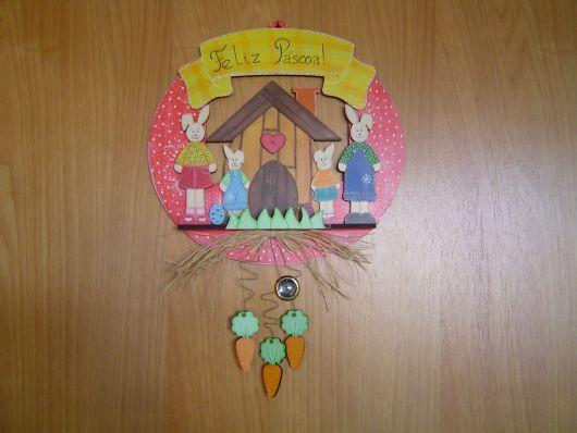 decoração família coelho
