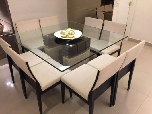 mesa de mármore e vidro