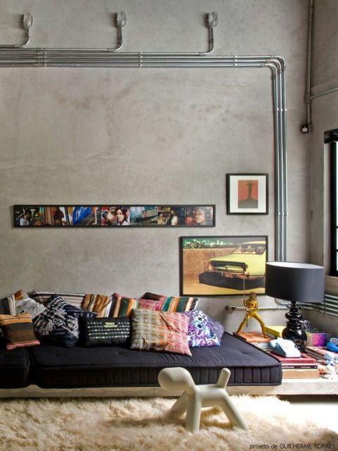 sofá futón sala