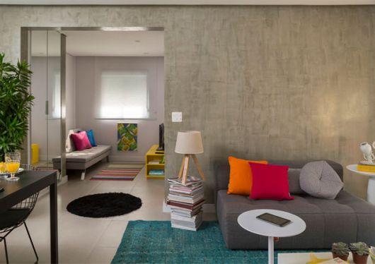 decoração colorida sala