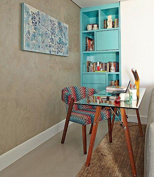 decoração colorida home office