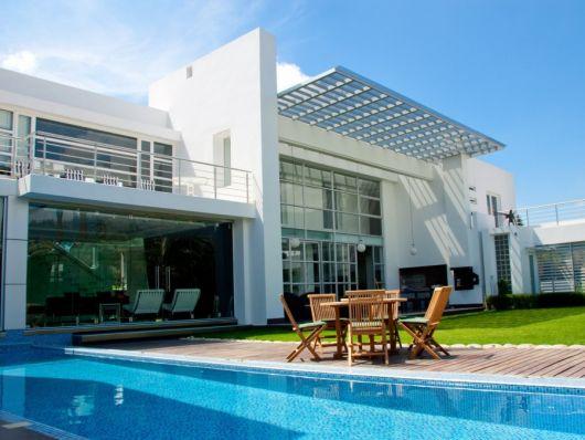 casa com vidro
