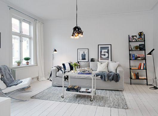 piso de madeira branca