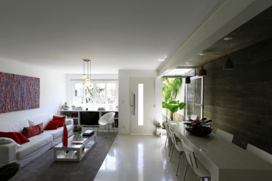 piso pintado de branco