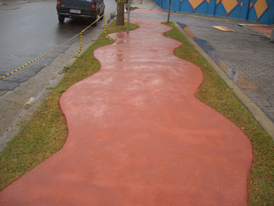 calçada pintada