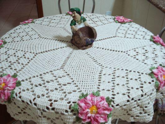 toalha simples com flores