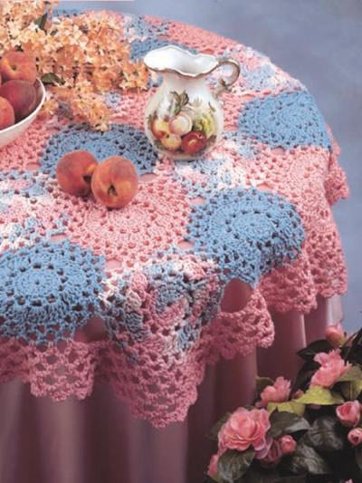toalha redonda colorida