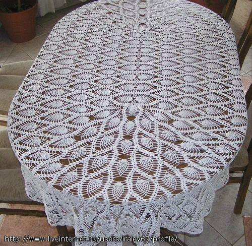 toalha oval ponto abacaxi
