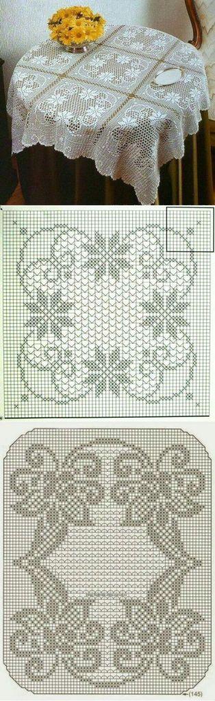 gráfico crochê filé