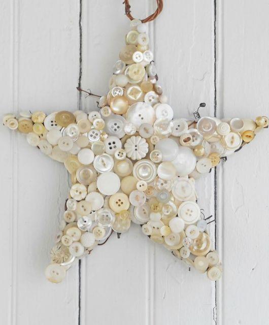 artesanato-com-botoes-estrela