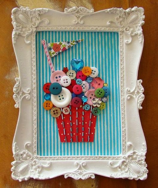 artesanato-com-botoes-quadros-cupcake