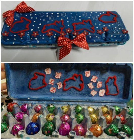 caixa de chocolates páscoa