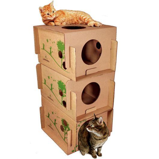 Casas para gatos ideias diy e 50 modelos lindos para seu - Casa para gato ...