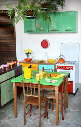 decoração cozinha retrô
