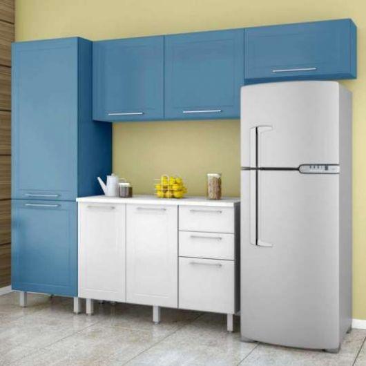 projeto cozinha azul