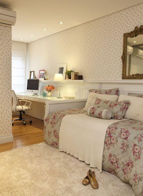 decoração quarto feminino solteiro