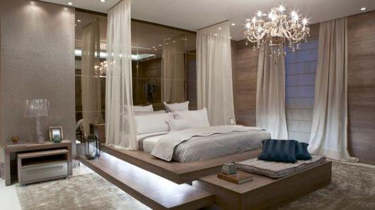 quarto com lustre