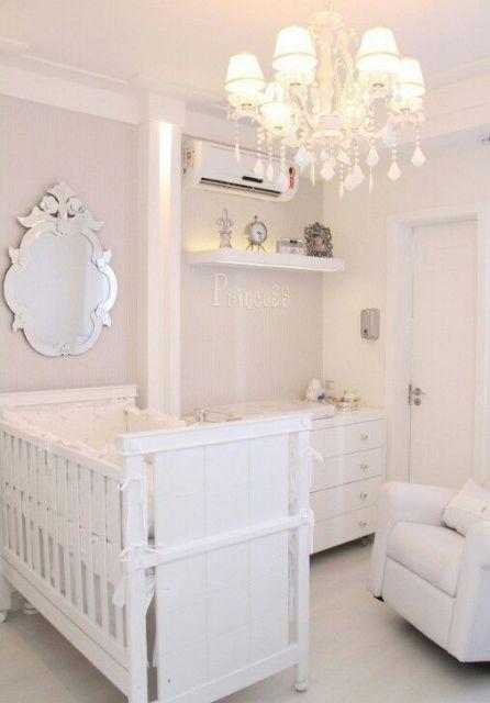 decoração quarto bebê móveis brancos
