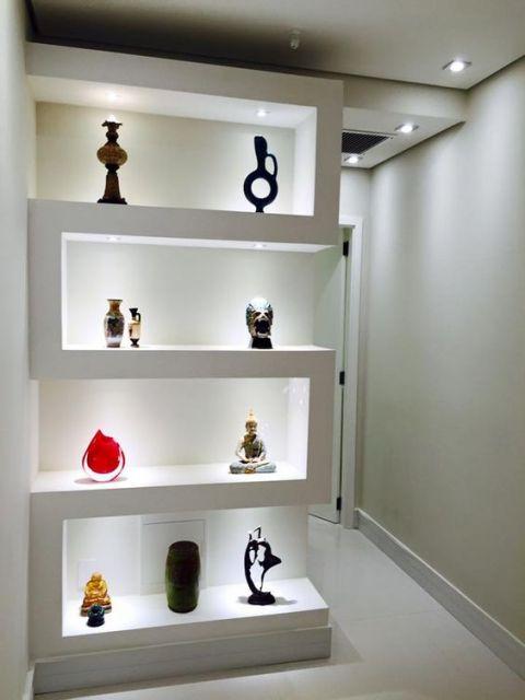 estante de gesso vale a pena vantagens pre o e mais de 40 modelos. Black Bedroom Furniture Sets. Home Design Ideas