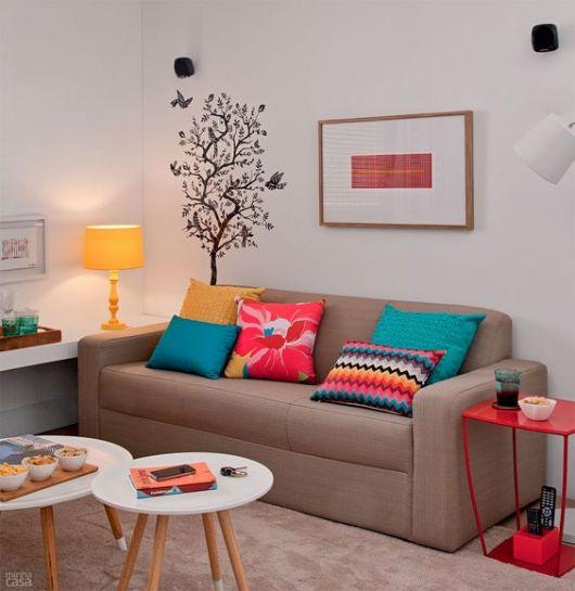 decoração sala colorida