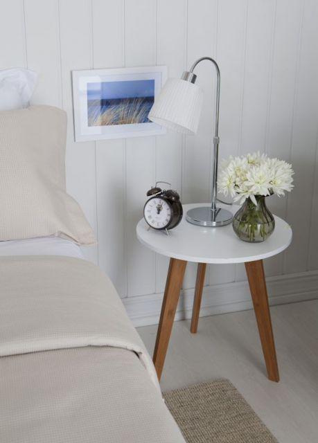 mesa redonda branca