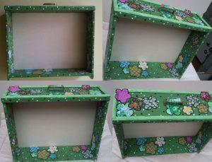 nicho de gaveta com tecido
