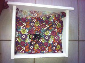 revestir nicho de gaveta com tecido