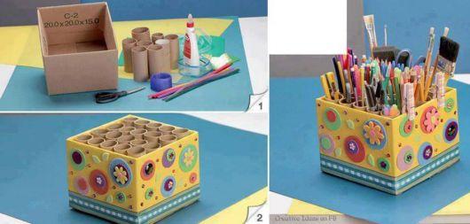 DIY caixa decorada com EVA