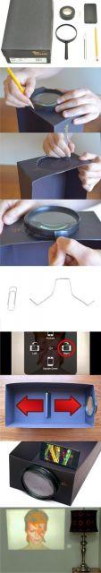 como fazer projetor para celular