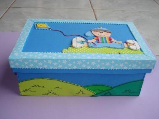 caixa decorada menino
