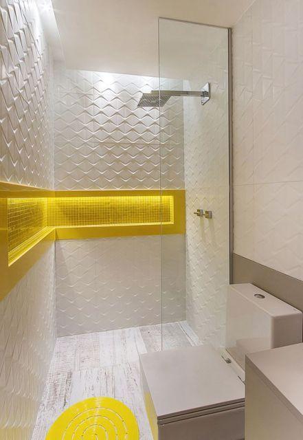 Banheiros decorados + de 80 ideias e inspirações incríveis! -> Banheiros Modernos Chuveiro
