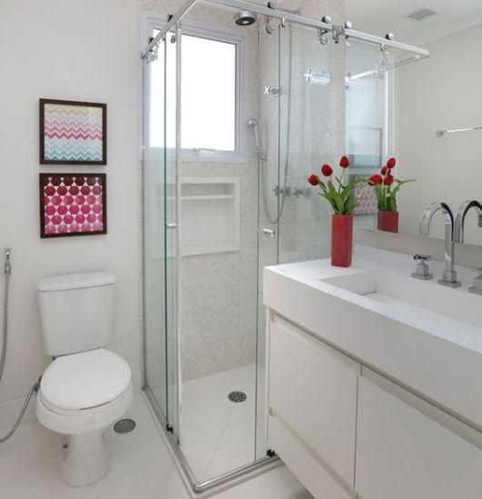 Banheiros decorados + de 80 ideias e inspirações incríveis! -> Banheiros Pequenos Simples E Decorados