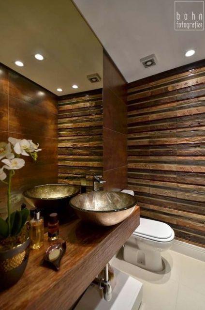 bancada de madeira lavabo