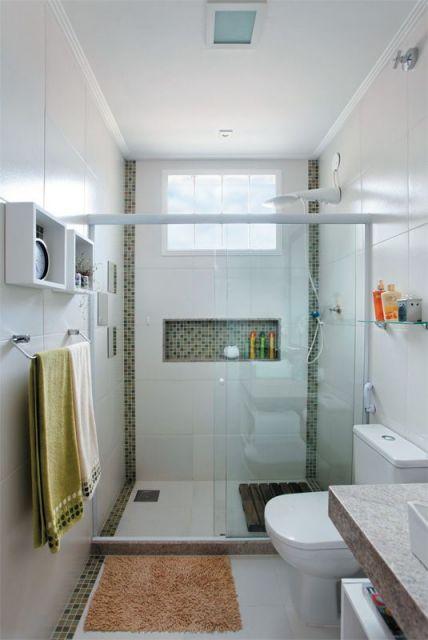Banheiros decorados + de 80 ideias e inspirações incríveis! -> Nicho Para Banheiro Telha Norte