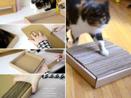 passo a passo arranhador de papelão