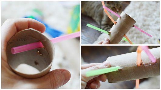 DIY brinquedo de rolo de papel higiênico